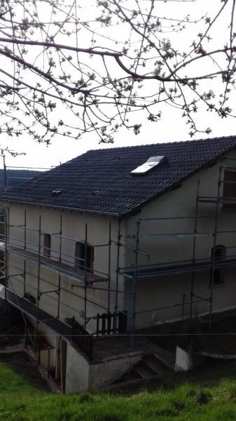 Rénovation de la toiture finie, autre vue